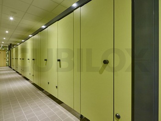 European Designed Compact Laminate Board Public Toilet Partition