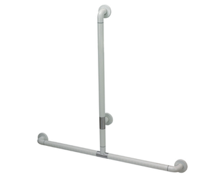 50200273-Nylon Wall Mounted T-shape Fixed Safety Handrail